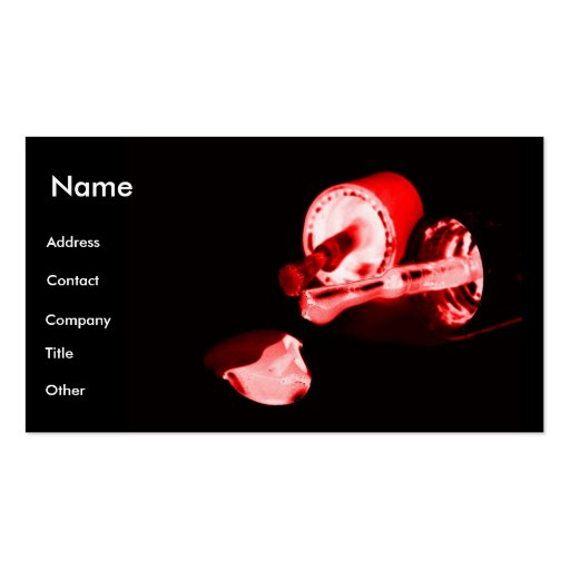 Manicuro en negro y rojo plantillas de tarjetas personales