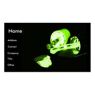 Manicuro en negro y verde plantilla de tarjeta de negocio
