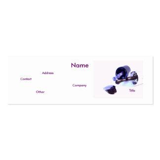 Manicuro en púrpura tarjetas de visita mini