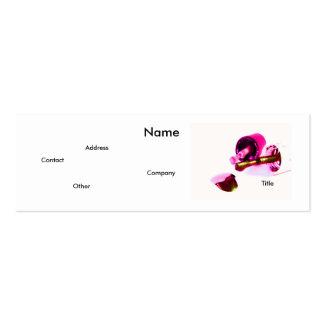 Manicuro en rosa tarjetas de visita mini