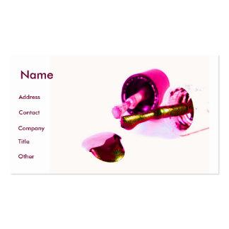 Manicuro en rosa tarjetas de visita