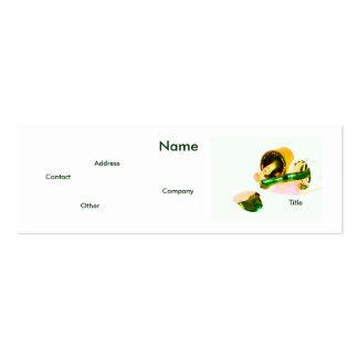 Manicuro en verde y oro plantillas de tarjetas personales