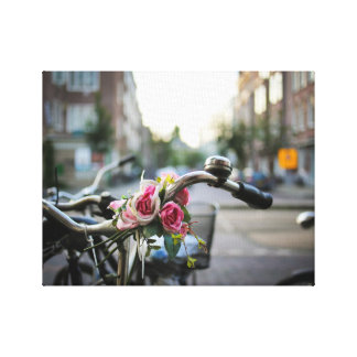 Manijas florales impresión de lienzo