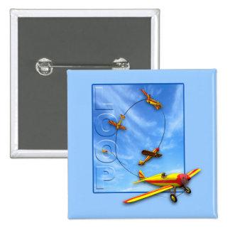 Maniobra aeroacrobacia del lazo con el aeroplano pin