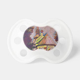 Manipulación artística de la foto de las agujas de chupetes de bebe