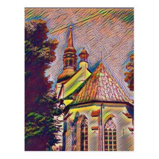 Manipulación artística de la foto de las agujas de postal
