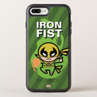 Manipulación de la ji del Iron Fist de Kawaii Funda OtterBox Symmetry Para iPhone 8 Plus/7 Plus