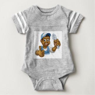 Manitas negra del mecánico o del fontanero body para bebé
