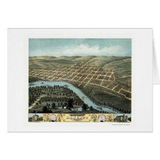Mankato mapa panorámico del manganeso - 1870 felicitacion