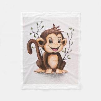 Manny la manta del paño grueso y suave del mono