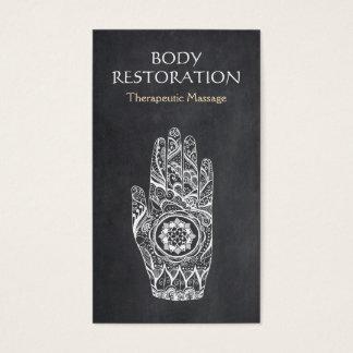 Mano 1 del tatuaje de Lotus de la alheña del Tarjeta De Negocios