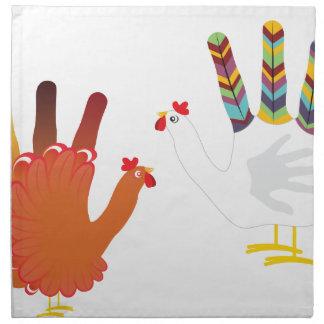 Mano Chicken3 del Grunge Servilleta De Tela