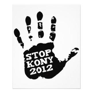 Mano de José Kony de la parada de Kony 2012 Folleto 11,4 X 14,2 Cm