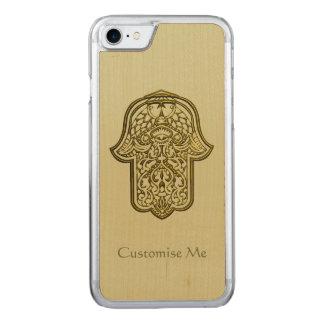 Mano de la alheña de Hamsa (de oro) Funda Para iPhone 7 De Carved