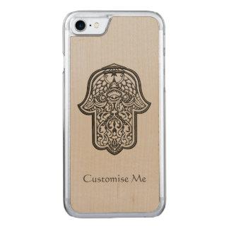 Mano de la alheña de Hamsa (original) Funda Para iPhone 7 De Carved