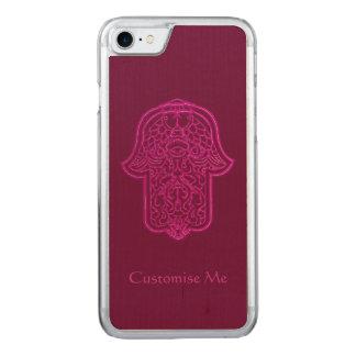 Mano de la alheña de Hamsa (rosa) Funda Para iPhone 7 De Carved