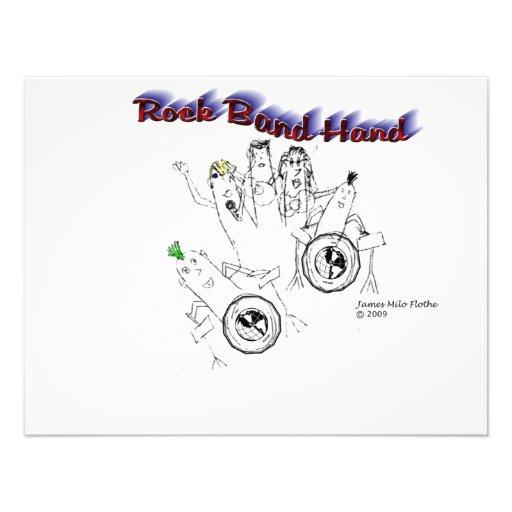 Mano de la banda de rock comunicados personales