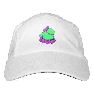 Mano del arte pop que sostiene el gorra gorra de alto rendimiento