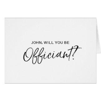Mano elegante puesta letras usted será mi tarjeta de felicitación