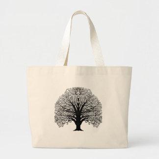 Mano original del arte del árbol negro del bolso de tela gigante
