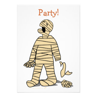 Mano rota momia divertida Halloween Comunicados Personalizados