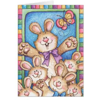 Manojo de conejitos - tarjeta de felicitación