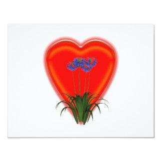 Manojo de flores preciosas invitación 10,8 x 13,9 cm