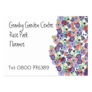 Manojo de flores tarjetas de visita grandes