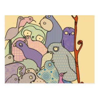 manojo de mosaico azul del tinte de los pájaros postal