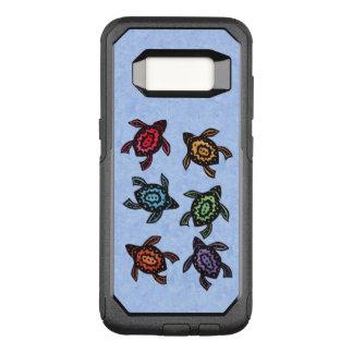 Manojo de nadar cáscaras coloreadas tortugas funda otterbox commuter para samsung galaxy s8