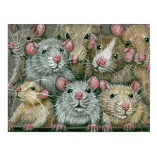 Manojo de ratas en la postal de la reunión de