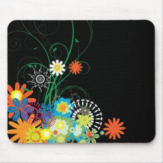 manojos de la flor de vector de los remolinos alfombrilla de ratón