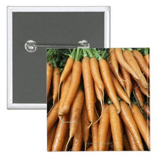 Manojos de zanahorias chapa cuadrada
