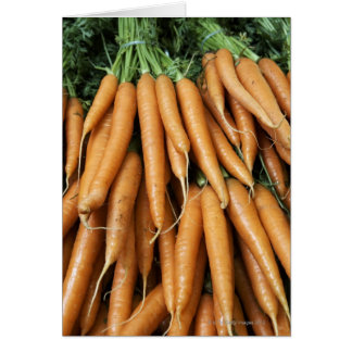 Manojos de zanahorias tarjeta de felicitación
