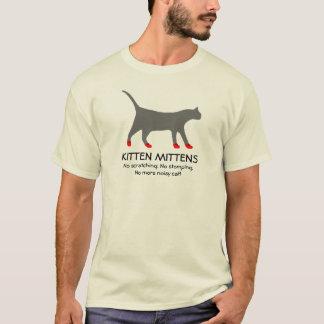 Manoplas del gatito camiseta