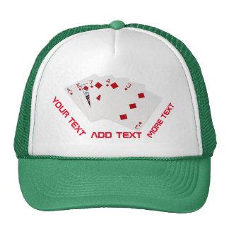 Manos de póker - rasantes - juego de los diamantes gorra