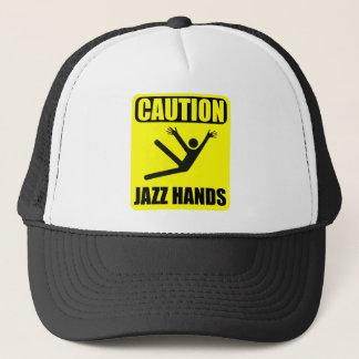 Manos del jazz de la precaución gorra de camionero