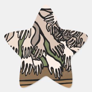 Manos del maniquí pegatina en forma de estrella