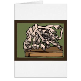 Manos del maniquí tarjeta