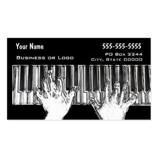 Manos en el teclado tarjetas de visita