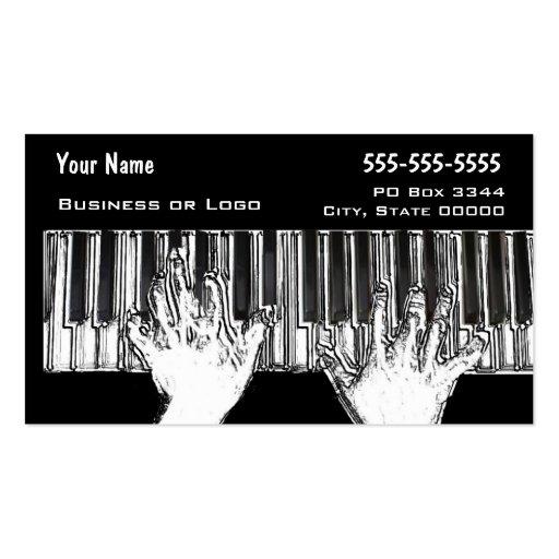 Manos en el teclado tarjeta de visita