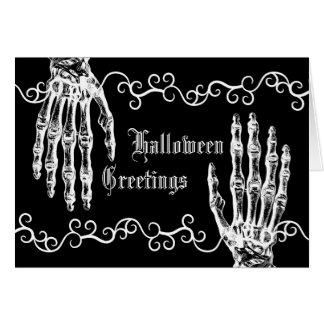 Manos fantasmagóricas del zombi de Halloween de la Tarjeta