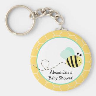 Manosee el llavero del personalizado de la abeja