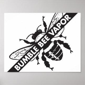 Manosee el poster del vapor de la abeja póster