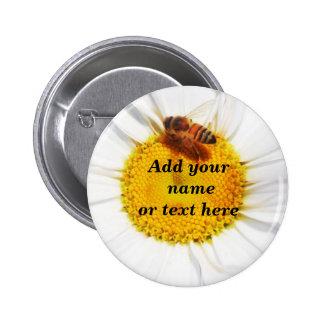 Manosee la abeja y el Flower_ Pin