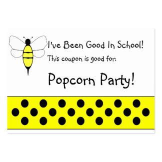 Manosee la cupón de la escuela de la abeja tarjeta de negocio