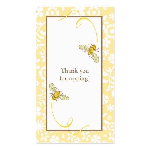Manosee la etiqueta del favor de la abeja plantillas de tarjetas personales