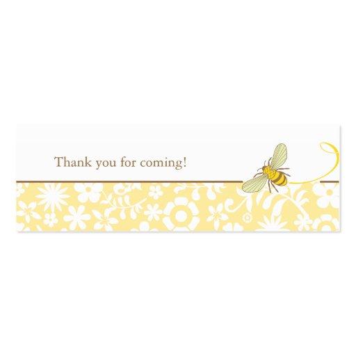Manosee la etiqueta del favor de la abeja tarjetas de visita