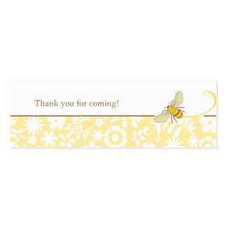 Manosee la etiqueta del favor de la abeja tarjetas de visita mini