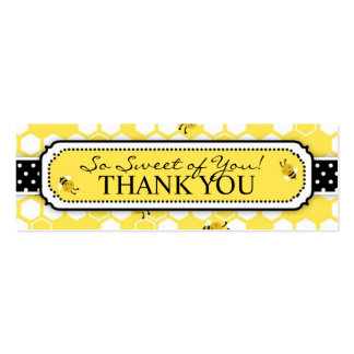Manosee la etiqueta flaca 2 del regalo de la abeja tarjetas de visita mini